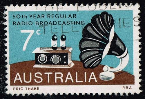Australia #588 Broadcasting; Used (0.25) (2Stars) |AUS0588-03XBC