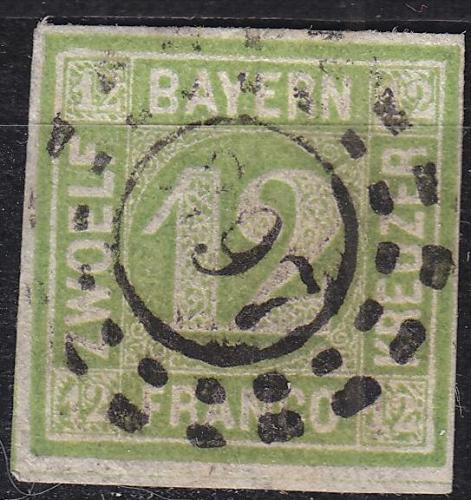 GERMANY Bayern Bavaria [1862] MiNr 0012 ( O/used ) [01]