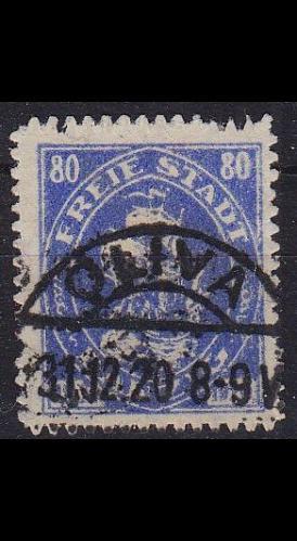 GERMANY REICH Danzig [1921] MiNr 0057 ( OO/used ) [02]