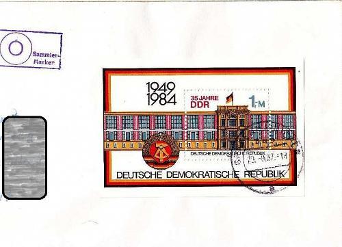 GERMANY DDR [1984] MiNr 2890 Block 77 ( Brief ) Bauwerke