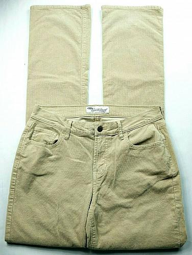 Old Navy Women's The Sweetheart Corduroy Boot Cut Pants Size 4T Beige Stretch