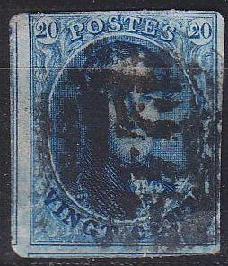 BELGIEN BELGIUM [1858] MiNr 0008 II ( O/used ) [01]