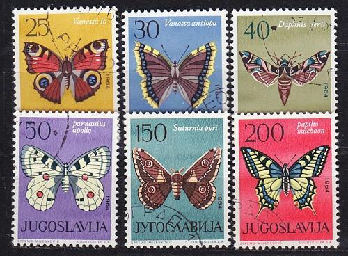 JUGOSLAVIA [1964] MiNr 1069-74 ( O/used ) Schmetterlinge