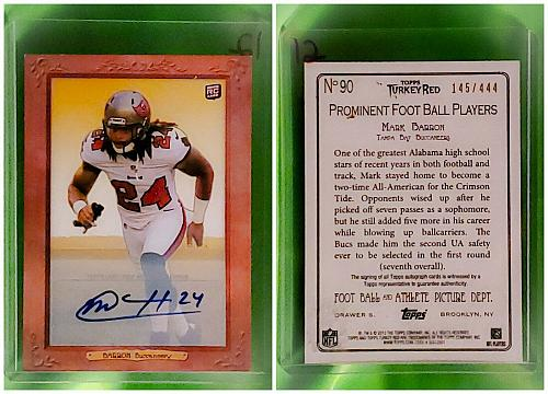 NFL Mark Barron Tampa Bay Buccaneers Autographed 2012 Topps Turkey Red Rookie