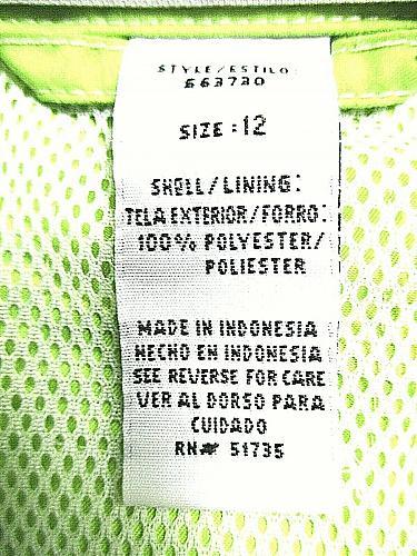 SAG HARBOR womens SPORT Sz 12 L/S green full ZIP 2 pocket MESH LINED jacket (C2)