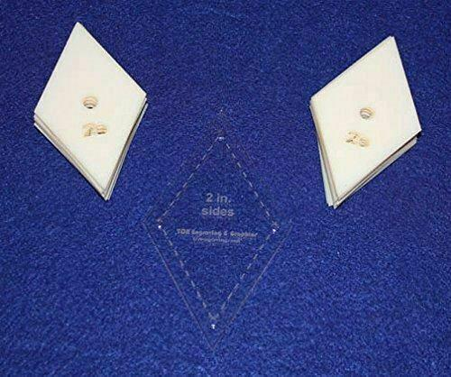 """Mylar 2"""" Side Diamonds 51 Piece Set - Quilting / Sewing Templates"""