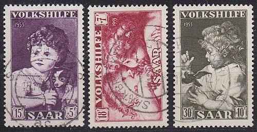 GERMANY Saar [1953] MiNr 0344-46 ( O/used )