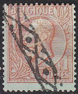 BELGIEN BELGIUM [1884] MiNr 0046 ( O/used )