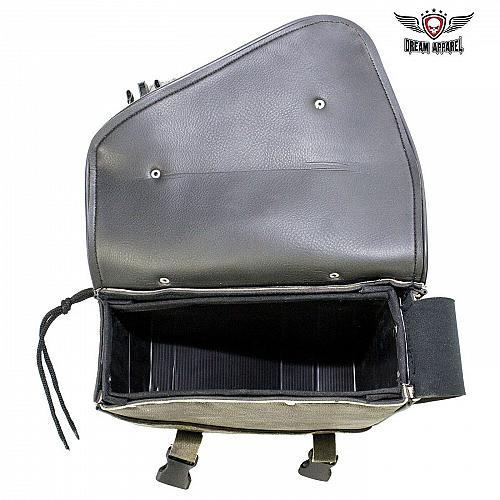 Motorcycle Solo Swing Arm Right Side Bag Distressed Brown Leather Universal Fit