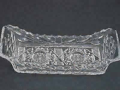 American Brilliant Period hand Cut Glass rectangle tray