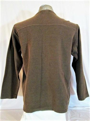 J.CREW mens Large Tall LONG SLEEVE BROWN V NECK SWEATER (F)