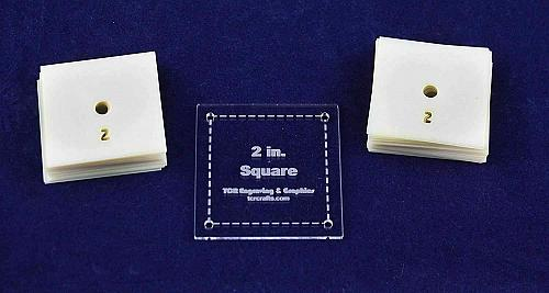 """Mylar 2"""" Square 51 Piece Set - Quilting / Sewing Templates"""