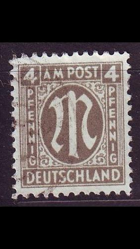 GERMANY Alliiert AmBri [1945] MiNr 0018 A ( O/used )
