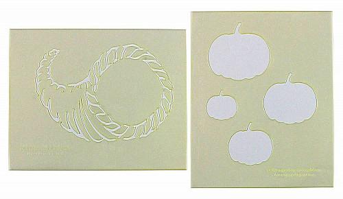 """Mylar 2 Pieces of 14 Mil 8"""" X 10"""" Autumn Stencils- Painting /Crafts/ Templates"""