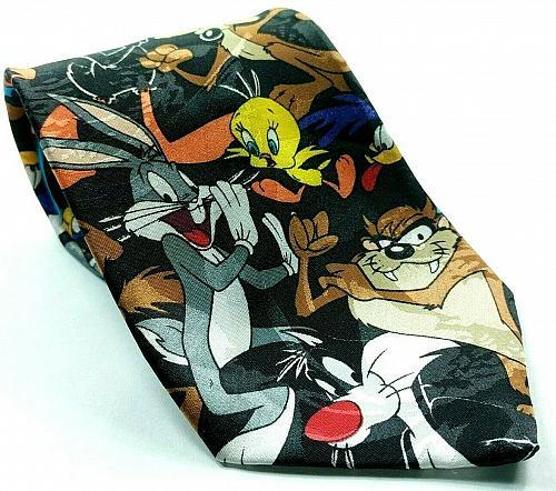 Looney Tunes Mania Taz Bugs Bunny Tweety Wile E Coyote Daffy Novelty Necktie