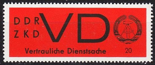 GERMANY DDR [Dienst VD] MiNr 0003 y ( **/mnh )