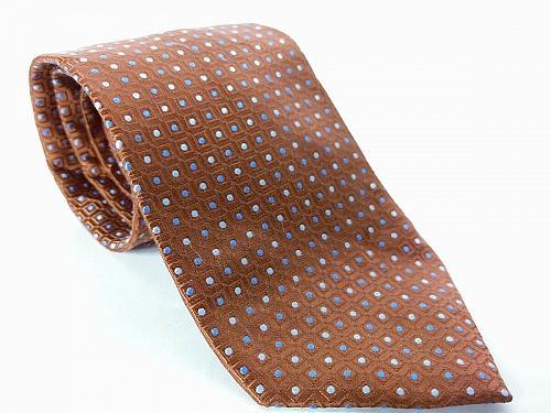 Jos A Bank Men's Dress Necktie 100% Silk Geometric Blue Brown Silver