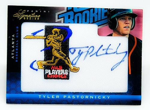 MLB TYLER PASTORNICKY AUTOGRAPH 2012 PANINI SIGNATURE SERIES ROOKIE PATCH /299