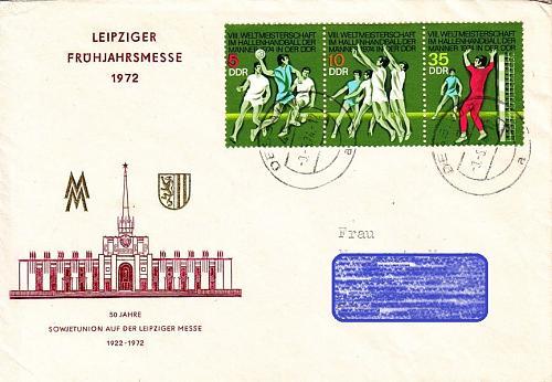 GERMANY DDR [1974] MiNr 1928-30 Zdr ( Brief ) Sport