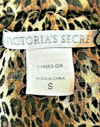 Victorias Secret womens Small RUFFLED tie back ANIMAL PRINT halter top NWT (B5)