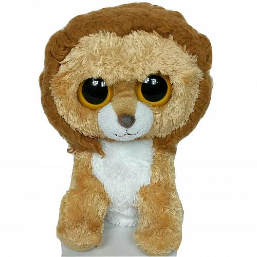 Ty Beanie Boo King The Lion Mane Brown Plush 2011 9""