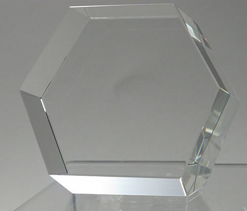 6 sided glass paperweight can be customized, Gift