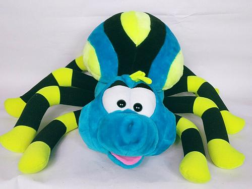 Great American Toy Company Black Blue Yellow Large Spider Plush 22""