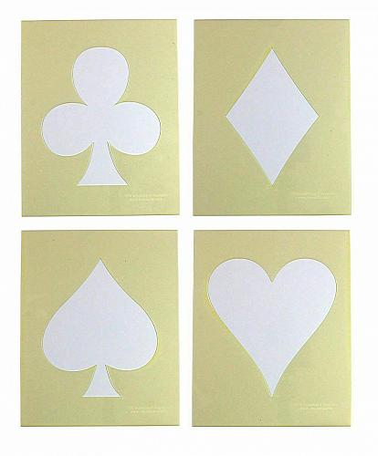 """Playing Card Suits -4 Piece Stencil Set 14 Mil 8"""" X 10"""" Painting /Crafts/ Templa"""