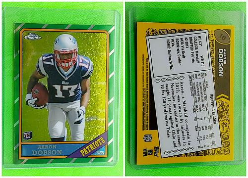 NFL AARON DOBSON NEW ENGLAND PATRIOTS 2013 TOPPS CHROME ROOKIE INSERT #16 MNT
