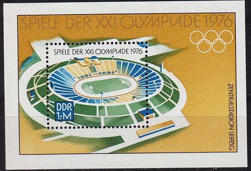GERMANY DDR [1976] MiNr 2132 Block 46 ( **/mnh ) Olympiade