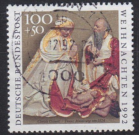 GERMANY BUND [1992] MiNr 1640 ( O/used ) Weihnachten