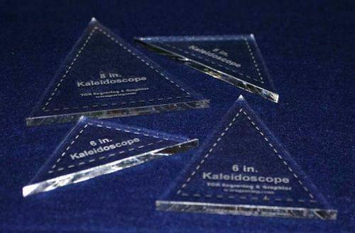 "4 Pc Kaleidoscope Set 6"" & 8"" ~1/4"" for 6"" & 8"" Finished Squares W/seam Allowanc"