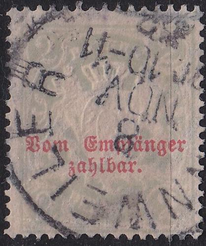 GERMANY Bayern Bavaria [Porto] MiNr 0013 B y ( O/used )