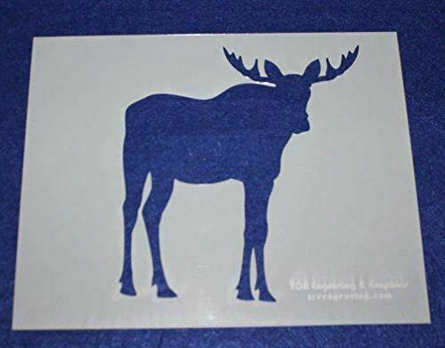 """Moose Stencils -Mylar 4 Pieces of 14 Mil 8"""" X 10"""" - Painting /Crafts/ Templates"""