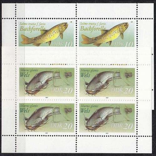GERMANY DDR [1987] MiNr 3096-97 KB ( **/mnh ) Fische
