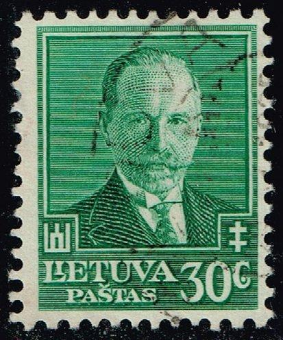 Lithuania #284 Pres. Antanas Smetona; Used (3Stars) |LIT0284-01XRP