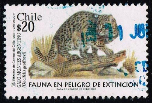 Chile #1395 Geoffroy's Cat; Used (3Stars)  CHI1395-09