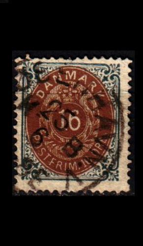 DÄNEMARK DANMARK [1875] MiNr 0027 I Y B b ( O/used ) [02]