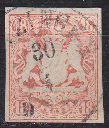 GERMANY Bayern Bavaria [1867] MiNr 0019 ( O/used ) [01]