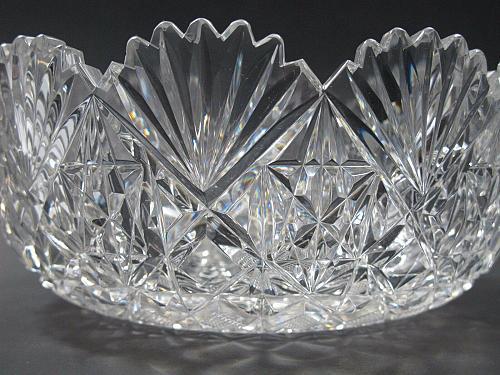 Cut glass ABP bowl blown blank Antique