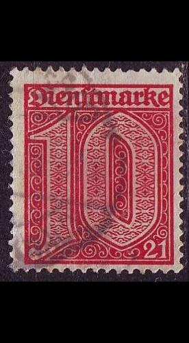 GERMANY REICH Dienst [1920] MiNr 0017 ( O/used )