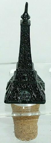 "Eiffel Tower Black Paris France Wine Stopper Cork 3.5"""