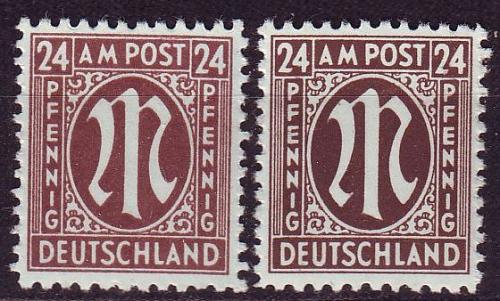 GERMANY Alliiert AmBri [1945] MiNr 0027 B ( **/mnh ) [01]