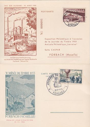 GERMANY Saar [1955] MiNr 0329 ( FDC )
