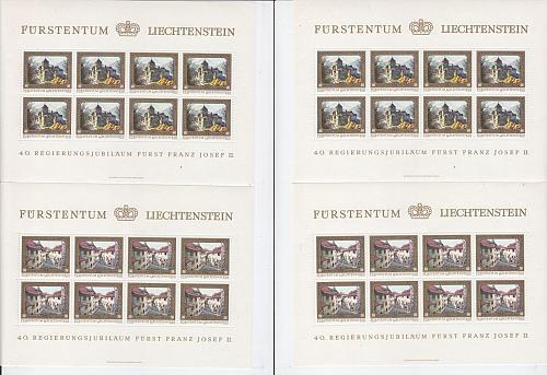 LIECHTENSTEIN [1978] MiNr 0706-09 Kleinbogen ( **/mnh )