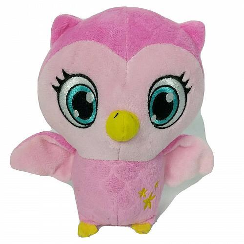 "Little Charmers Treble Pink Owl Plush Nick Jr's Spinmaster Stuffed Animal 7"""