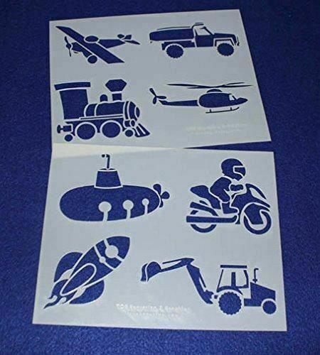 "Mylar 2 Pieces of 14 Mil 8"" X 10"" Children's Stencils- Painting /Crafts/ Templat"