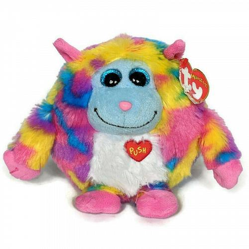 "NWT Ty Monstaz Willy Talking Glitter Eyes Plush Stuffed Animal 2012 5.5"""