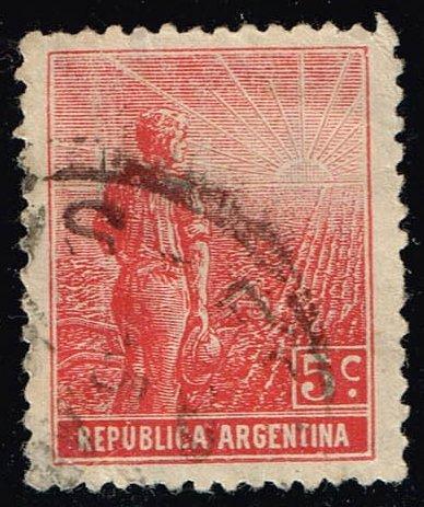 Argentina #194 Farmer and Rising Sun; Used (0.30) (3Stars) |ARG0194-07XBC