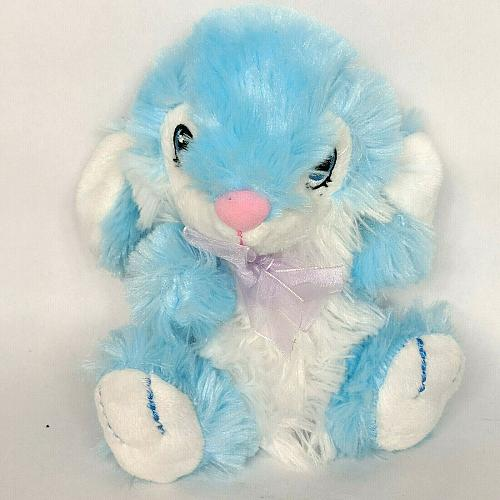 Dan Dee Collectors Choice Blue Easter Bunny Bow Plush Stuffed Animal 2016 7""